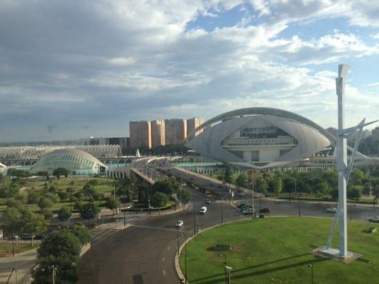 Barcelo Valencia: vista dalla camera sulla città della scienza di Calatrava