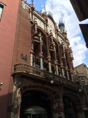 Palais de la Musique Catalane (Palau de la Musica Catalana) : Bela fachada��