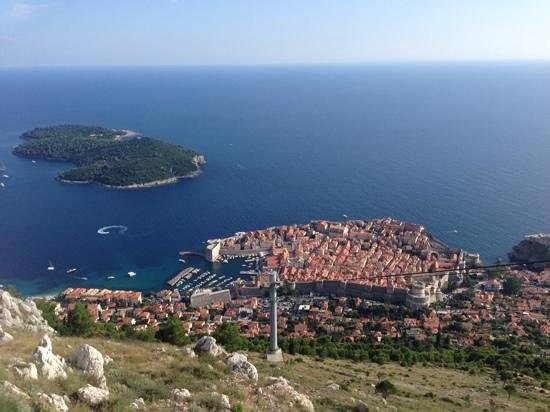 Valamar Dubrovnik President Hotel : view from top of cable car