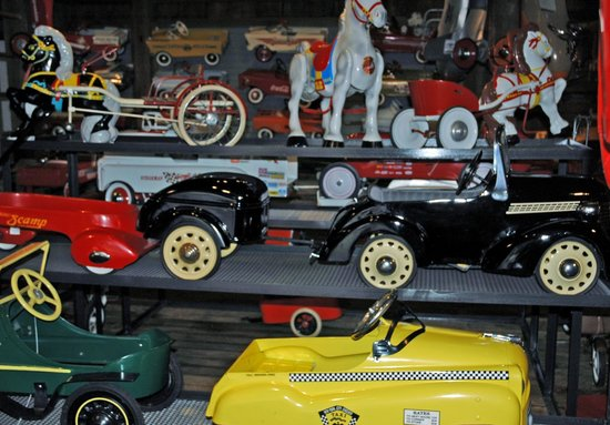 Gilmore Car Museum: The Pedal Car Barn, so much to see!!