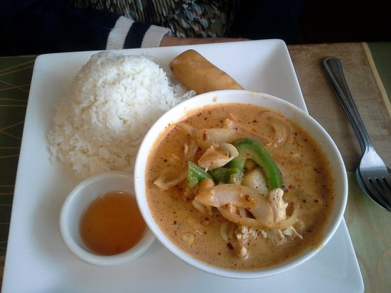 Bangkok Kitchen : Red Curry and Spring Roll