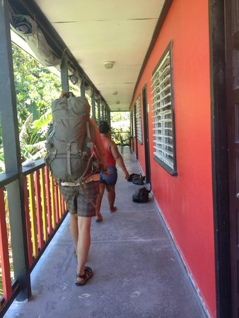 Dirty Mcnasty's Hostel: walking to the room