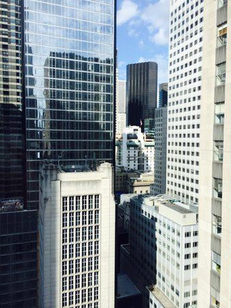 Club Quarters Hotel, opposite Rockefeller Center: Vista dal 26simo piano ( l'ultimo) del Club Quarter