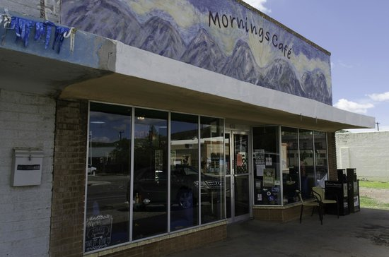 Exterior of Mornings Cafe
