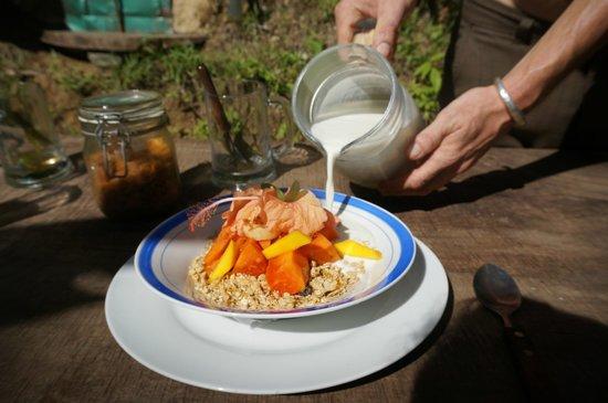 Ka'Kau Jungle Cabinas: Granola & fresh fruit
