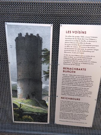Château du Hohlandsbourg : small descriptions around the grounds