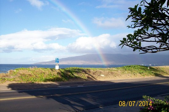 Maui Beach Vacation Club: Rainbow after the tropical storms!