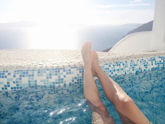Villa Renos: Sunset from our own private pool