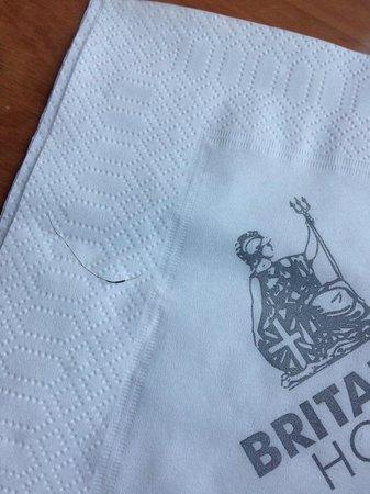 Britannia International Hotel : Breakfast.  Pubic hair found.