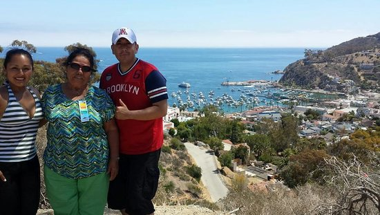 Catalina Expeditions  Tours: Top of the mnt. View