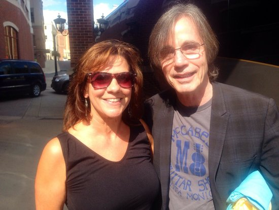 Hampton Inn & Suites Albany - Downtown: Jackson Browne and my wife in front of the Hampton Inn.