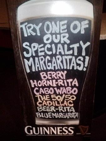 Boott Spur Grille: specialty margaritas!