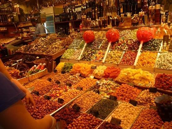 Mercat de la Boqueria : frutta caramellata