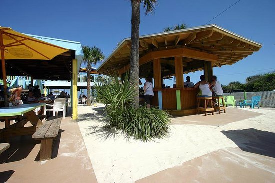 The Golden Lion Cafe : Famous Tiki Bar build around two existing palm trees!!