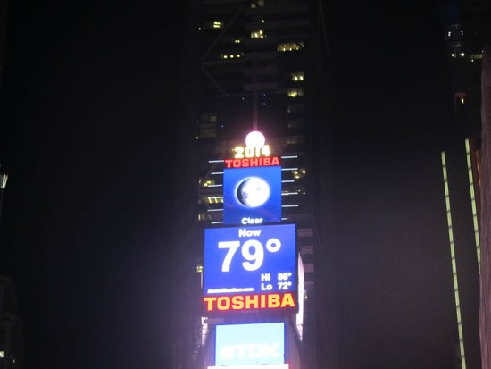 Times Square : The New Year's Eve ball