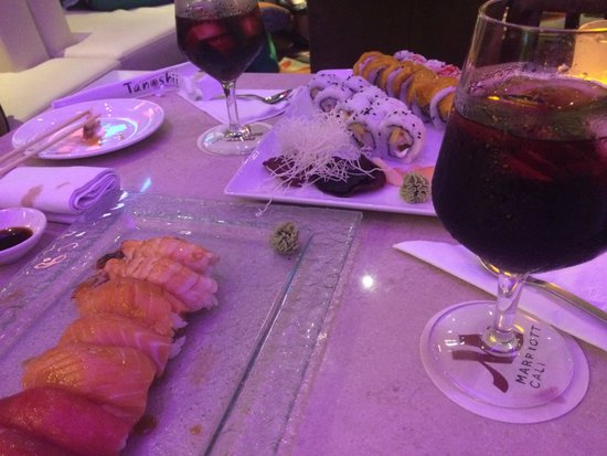 Cali Marriott Hotel: The plantain sushi was the best!