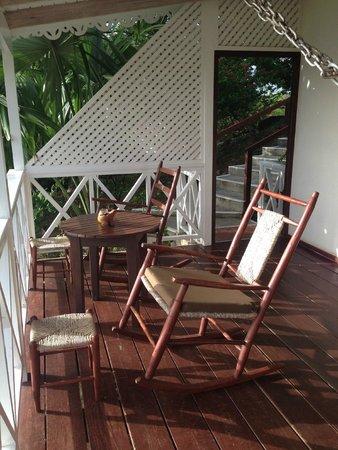 Ti Kaye Resort & Spa : the porch of our villa