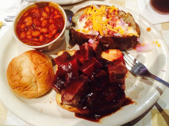 Dillon's KC BBQ: Burnt ends is actually smoked beef brisket cut into chunks. These are so tasty and they sell out