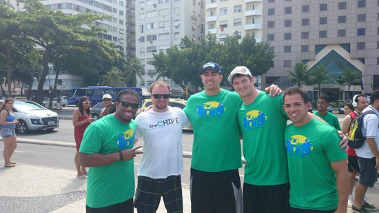 Rafael Torres Lopes Tour Guide : Bumped into some NFL'ers on Copacabana
