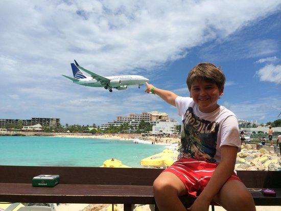 Maho Beach: This my favorite. The kids love all the trafic of planes. Just be very carefully with the take O