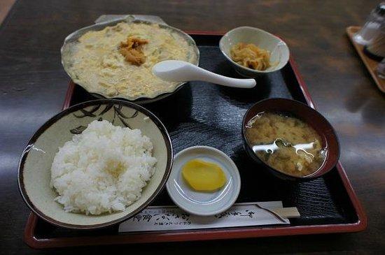 Osanai Shokudo : ほたて貝焼みそ定食 (¥1,000)