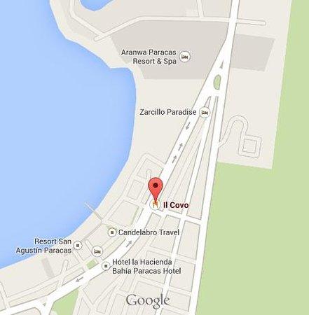 Mapa - Fuente: Google Maps - Picture of Il Covo, Paracas - TripAdvisor