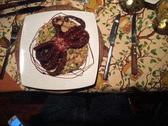 Hacienda Abraspungo : Baby octopus  Very delicious!!!