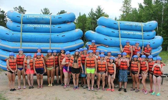 Thornton's Rafting: Student group rafting