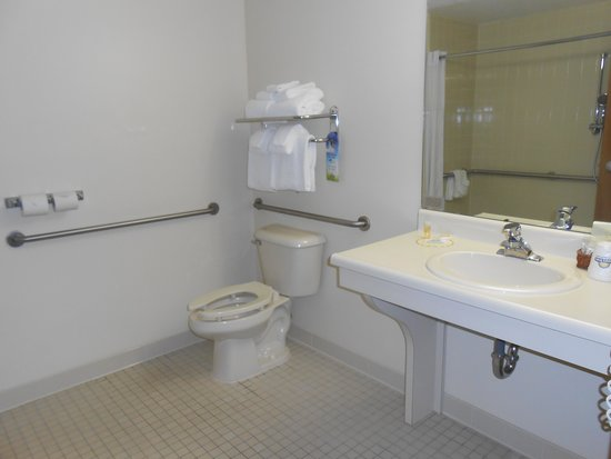 Days Inn Alpena: Large h/c accessible bathroom