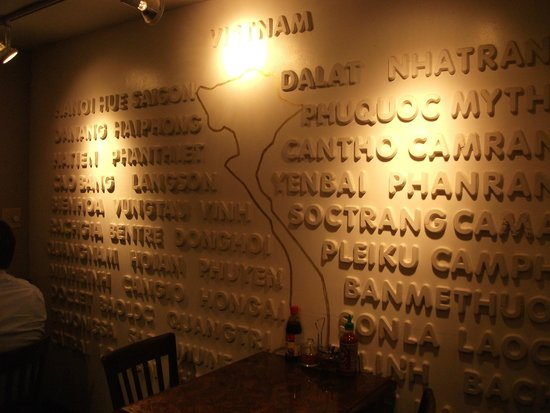 Caphe Banh Mi: Interesting Wall