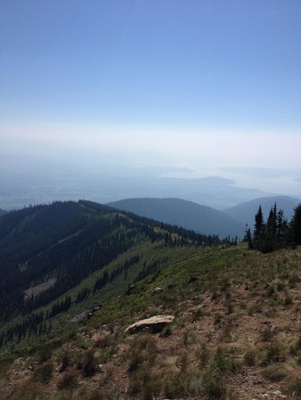 View from the top of Schweitzer Mountain