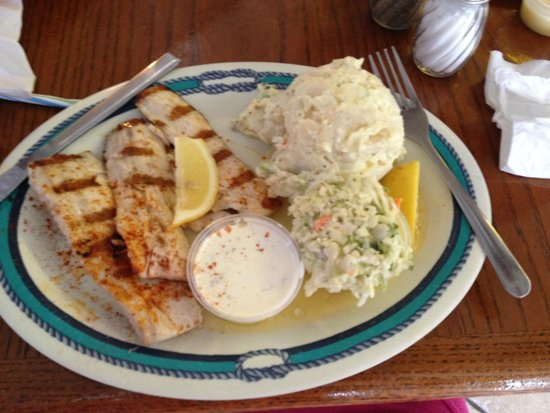 Fish Tales Market & Eatery: fish and amazing cole slaw and potato salad