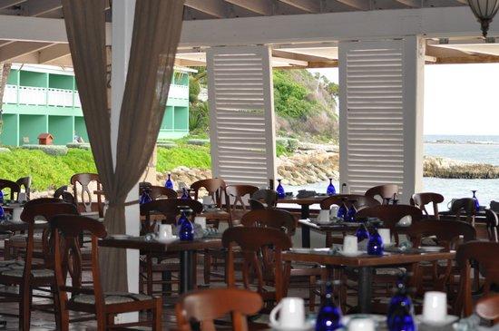 Pineapple Beach Club Antigua: before opening - main restaurant