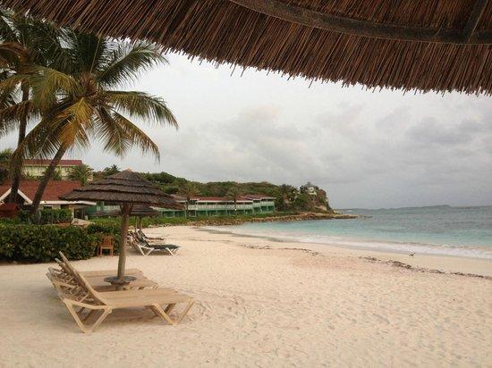 Pineapple Beach Club Antigua: under the hut