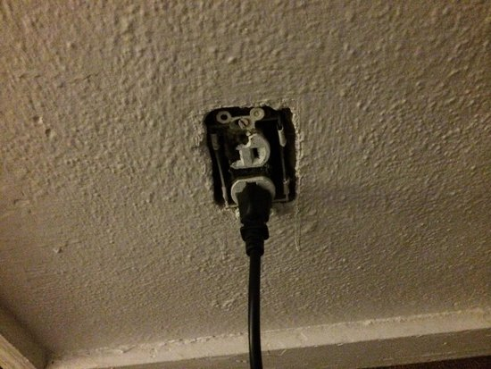 Binns Motor Inn : No outlet cover