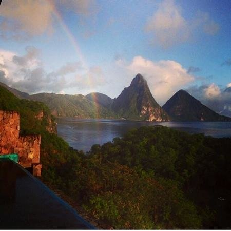 Jade Mountain Resort : rainbows