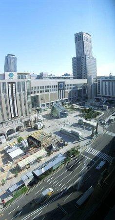Hotel Gracery Sapporo: 床から天井までの大パノラマ