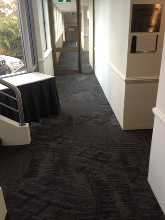 Best Western Plus Apollo International: New carpets being layer throughout the property at the Apollo international