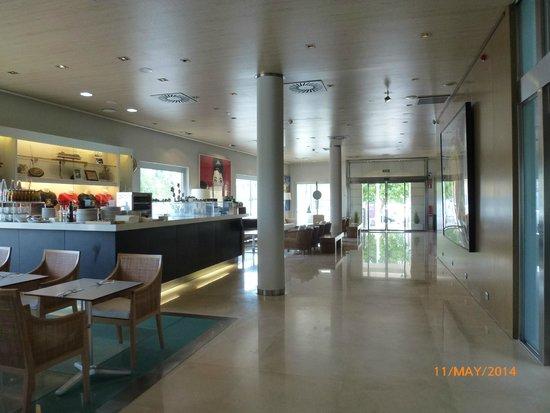 Foyer of the Hotel Neptuno, Valencia.