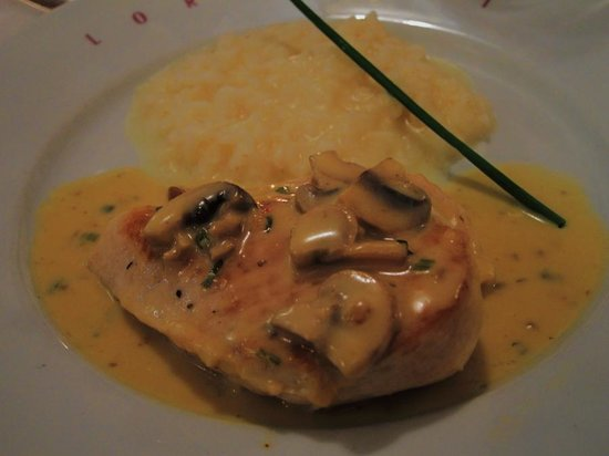 Lorenzini: mushroom cream sauce and risotto