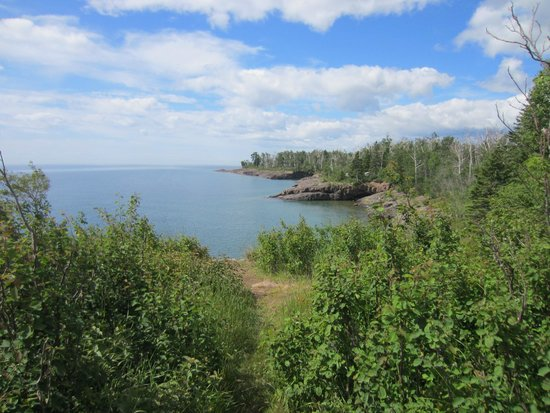 Gooseberry Falls State Park: Lake Superior from campground.