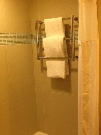 Hilton Garden Inn Los Angeles Marina Del Rey: towel rack in tub