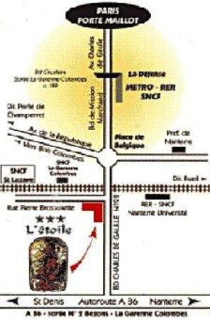 Hotel de l'Etoile: Location Map