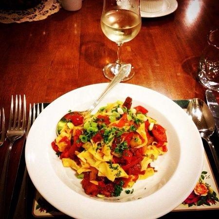 Milawa Muscat Retreat: Pasta entree - so fresh!