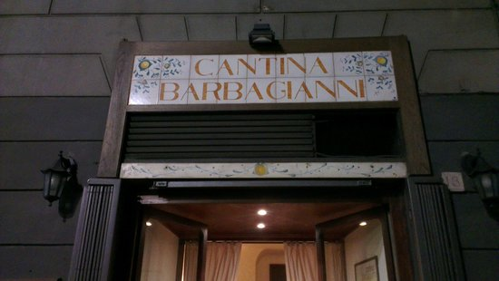 Cantina Barbagianni: View from the street. It can be a easy to miss it.