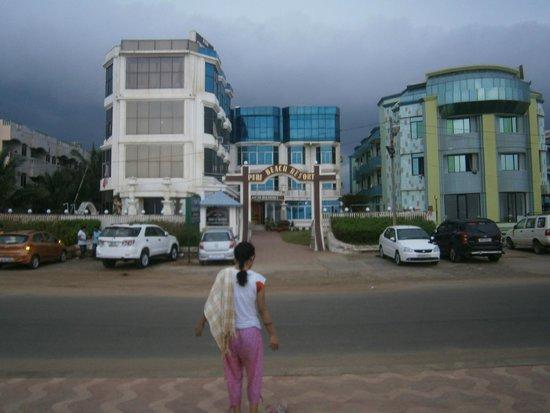 Puri Beach Resort In Front Of Hotel
