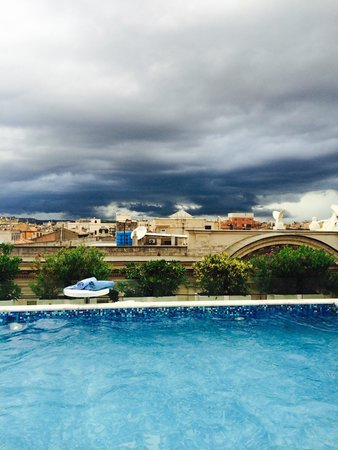 Pool View (A great place to watch a summer storm)