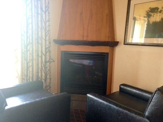 The Edgewater, A Noble House Hotel: Faux wood fire