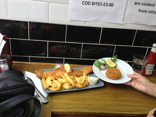 Baileys Fish and Chips: My mother-in-law also ordered Roe.