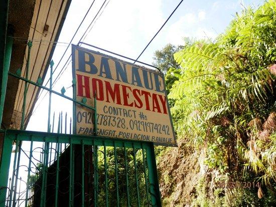 Banaue Homestay: signage